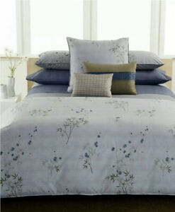 Calvin Klein Hyacinth Bamboo Queen Duvet Cover,Flat Sheet+2Standard Shams+1Euro