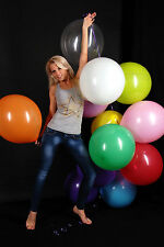 "30 TOLLE 48cm Ø (19"") Luftballons bunt -- 30 x Ballon bunt + !! CATTEX !!"