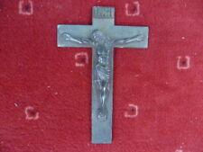 Crocifisso Bronzo Annerito Firmata L.Artaud Anni 50.15, 7 x 10,2 per 130 G