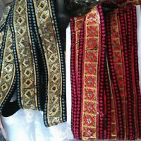 1M Ethnic Boho Gypsy Tribal Trim Riband Sew Craft Border Sequin Embroider Indian