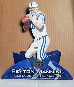 "Peyton Manning  ""Legends in the Making"" 2001 Upper Deck Promo Display. NFL"