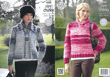 King Cole Super Chunky Knitting Pattern 4288: Easy Knit Jacket & Sweater