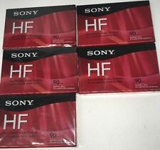 5 pack Sony High Fidelity 90 min. Audio Cassette Tapes, Voice & Music, HF