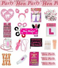Hen Party Girls Night Out Accessories Badges Sashes Willy Straws Bopper Games