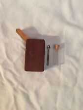 Vintage/unused Brown Wooden Tobacco Snuff Box spoon Jewelry  Beeds, Stevia