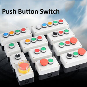 1pc 10(6)A  Car LED Power Push Button Metal ON/OFF Switch Latching Waterproof