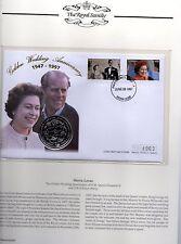 1997 Sierra Leone  Golden Wedding Anniversary $1 coin First Day Cover 4963