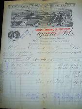 Facture - lins -Lille - Nord - 59 - année 1881 ( réf 9 )