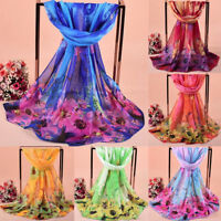 1PC Women Ladies Sweet Fashionable Printed Soft Shawl Wraps Long Scarf Scarves R
