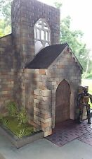 "Custom Action Figure Wasteland  Church Diorama Acid Rain GI Joe 1:18 3.75"""