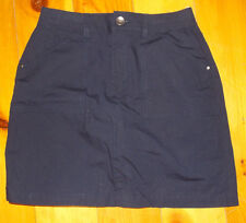 Women's Croft & Barrow Navy Blue Stretch Twill Skort Skirt Size 4