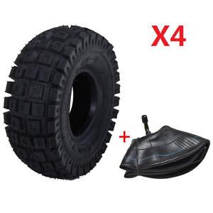 "4Sets 3.00 X 4 10"" x 3"" 3.00 - 4 Tube tire Super Bike Gas ELECTRIC Razor Scooter"