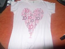 ONE DIRECTION DIRECTIONER T-SHIRT ROSA CUORE TG L USATO OTTIMO