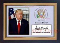 Donald Trump 45th President USA Autograph print signed photo picture FRAMED #002