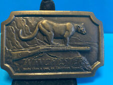 Vtg Indian Metal Craft 1976 Winchester More Than A Gun...Animal Belt Buckle