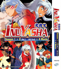 Inuyasha Sea 1-2 Complete Tv Series Vol.1-193 End + 4 Movie Dvd Anime