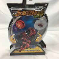 NIB Screechers Wild Toy Level 1 Revadactyl Red Car 360 Flip 2 Discs
