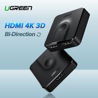 Ugreen Bidirektional HDMI Switch Splitter Umschalter 3D 4K HDCP für Xbox HDTV
