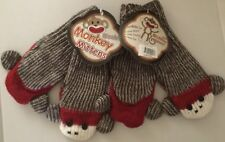 *NWT-2 Pairs/Sets of Brown Sock Monkey Mittens