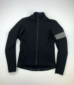 RAPHA Souplesse Long Sleeve Shadow Jersey Black Size Women's Small Made in Italy