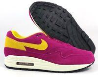 Nike Air Max 1 Premium Dynamic Berry Purple Yellow 875844-500 Men's 7.5-9