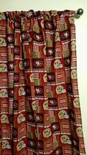 """NFL San Francisco 49ers Curtain set 55""""W x 54""""L Things By Michelle Boutique"""