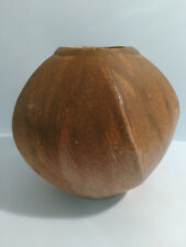 AUSTRALIAN STUDIO POTTERY 5 SIDED VASE BY PETER ACCADIA