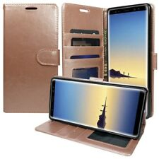 For Samsung Galaxy Note 8 Leather Flip Luxury Wallet Case Cover Strap Rose Gold