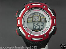 Men Boys Sports Digital Watch Alarm Day Date Watchlight Stopwatch Plastic Biking