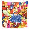 "Women's 100% Twill Silk Scarf / Multi-colored / Fashion Print / 34"" X 34"""