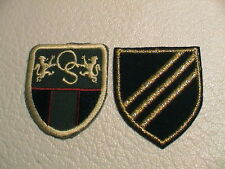 LOT /2 CANADA CANADIAN OS COAT OF ARMS & 3 STRIPES SOUVENIR TRAVEL PATCHES