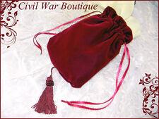 Civil War Victorian Burgundy Velvet Reticule / Purse