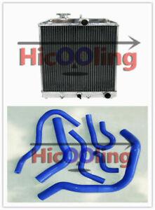 3ROW for Honda Civic EK EG B16 B18 92-00 32MM aluminum radiator&Silicone Hose