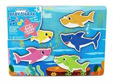 Baby Shark Chunky Wooden Sound Puzzle - Plays The Baby Shark Song Pinkfong New