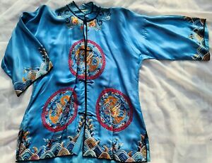 Antique Chinese Embroidered Silk Shirt