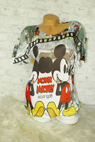 Italy New Collection Oversized Mickey Mouse Gr. 36 38 40 42 blogger weiß bunt