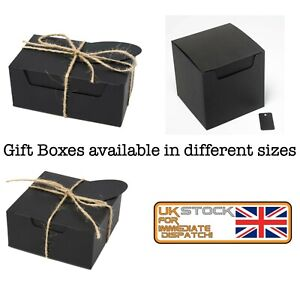 Gift Boxes Strong Eco BLACK Gift Packaging Storage Party Box Wholesale MultiPack