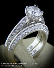 A.JAFFE .47CT TW VS1 F, Matching Wedding Band (Item 1763)
