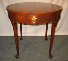 FINEST Vintage BAKER Figured Mahogany Round Cabriolet Accent Lamp Table