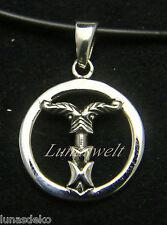 Schmuckanhänger Anhänger Irminsul im Kreis, Silber 925