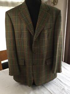 Baumler Plaid Covent Garden pure wool royal blazer C48 green brown mustard