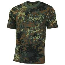 FLECKTARN ARMY STYLE SHORT SLEEVE 100% COTTON CAMO MILITARY MENS T SHIRT