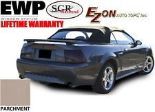 E-Z On Ford Mustang Convertible Top & Heated Glass Window PARCHMENT Sailcloth