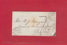 1860 Montreal 7 due double split ring to Quebec stampless cover, Canada