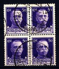"""ITALIA - Regno - 1929 - Serie """"Imperiale"""" - 50 cent. in quartina"""