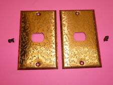 2 bell interchange 1gang antique copper finish wall plate 1hole