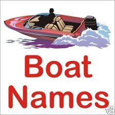 BOAT YACHT NAMES 2 X 600MM WIDE SELF ADHESIVE BOAT NAMES EASY APPLY