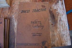 CAT Caterpillar DW21 Tractor Scraper Parts Manual Book Catalog shop 1952 spare