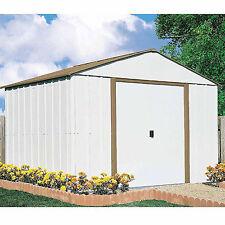 Garage Garden 10 x 10 Outdoor Storage Shed Backyard Metal Storage Tool Organized