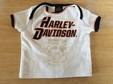 Harley Davidson Toddler Baby Infant T-shirt 3 To 6 Months White 2013